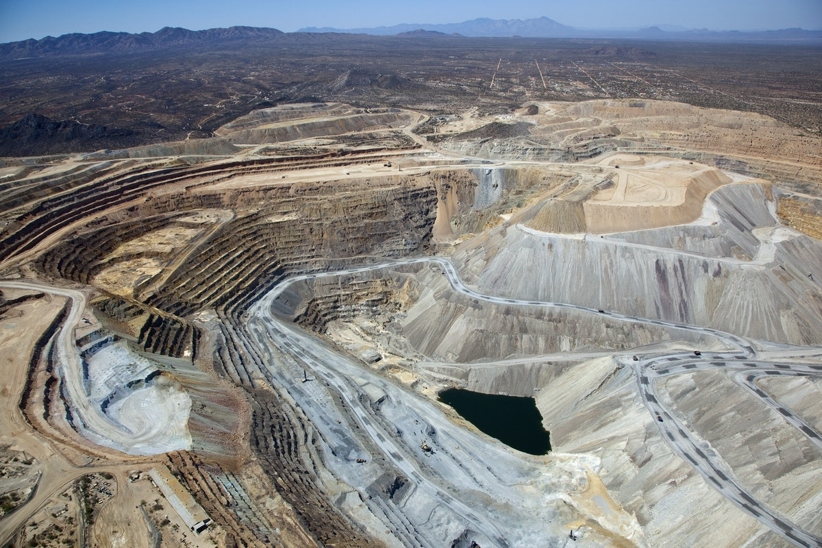 Open pit mine near Green Valley.