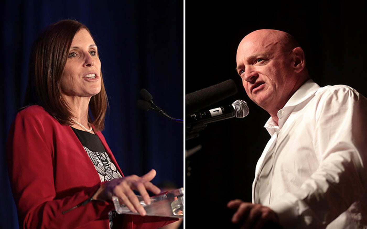 Sen. Martha McSally and Mark Kelly