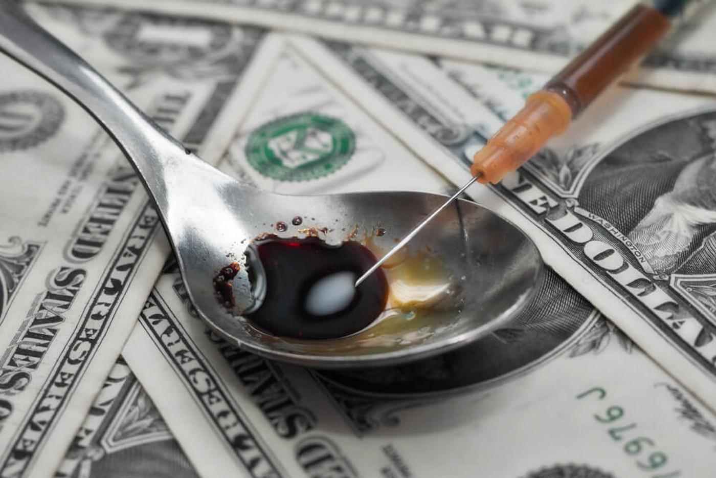 Methamphetamine injection|Stock Photo