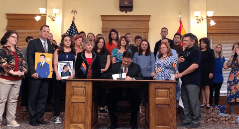 Gov. Doug Ducey Signing Jake's Law|Screenshot