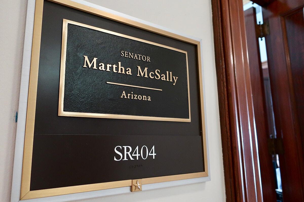Sen. Martha McSally nameplate
