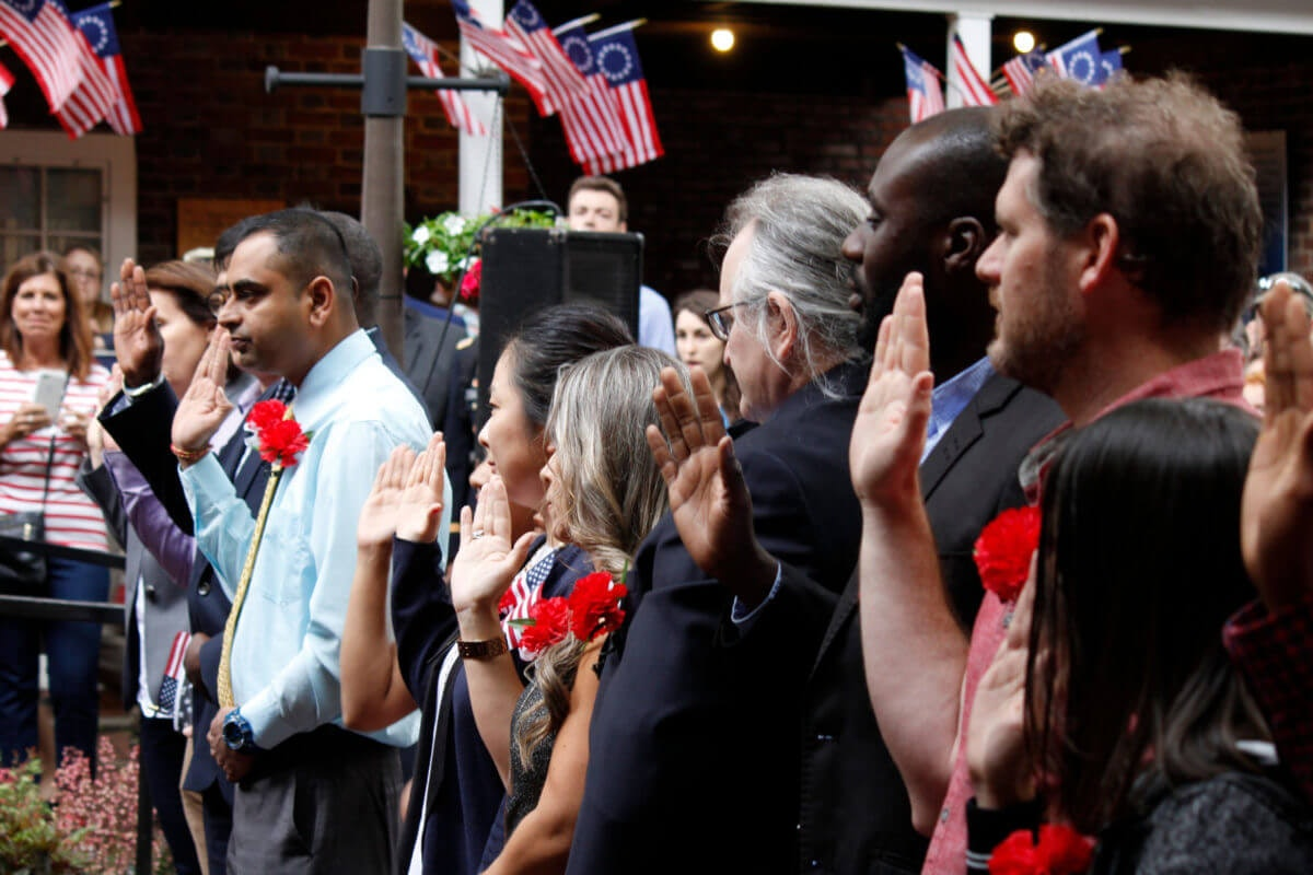 A naturalization ceremony | Image via Shutterstock