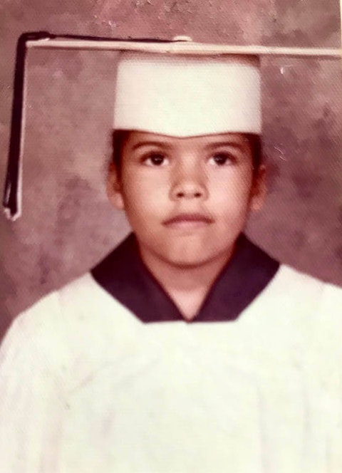 Anjanette Delgado, the author as a child.