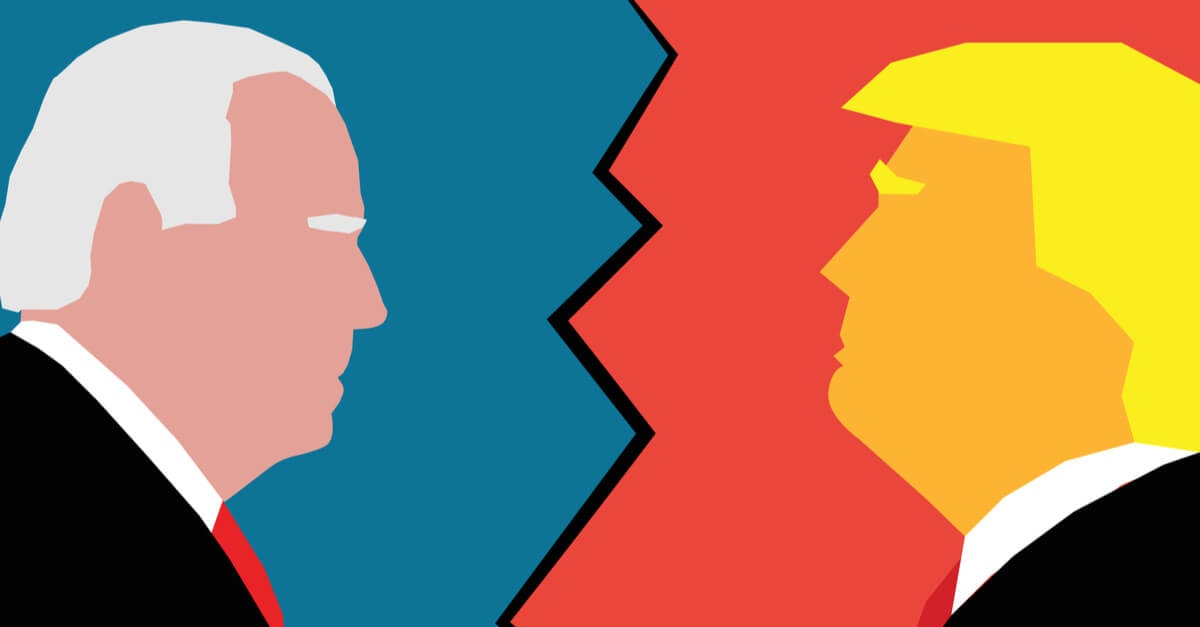 Graphic Biden vs Trump