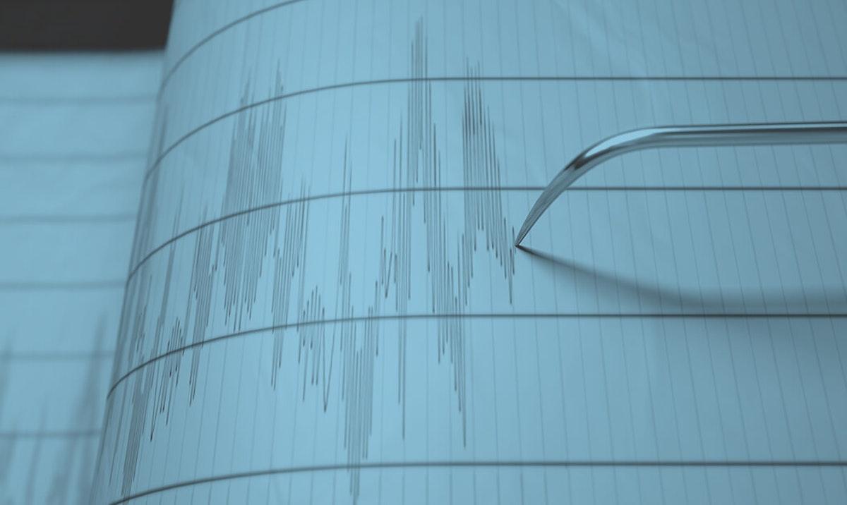 seismograph depicting earthquake activity