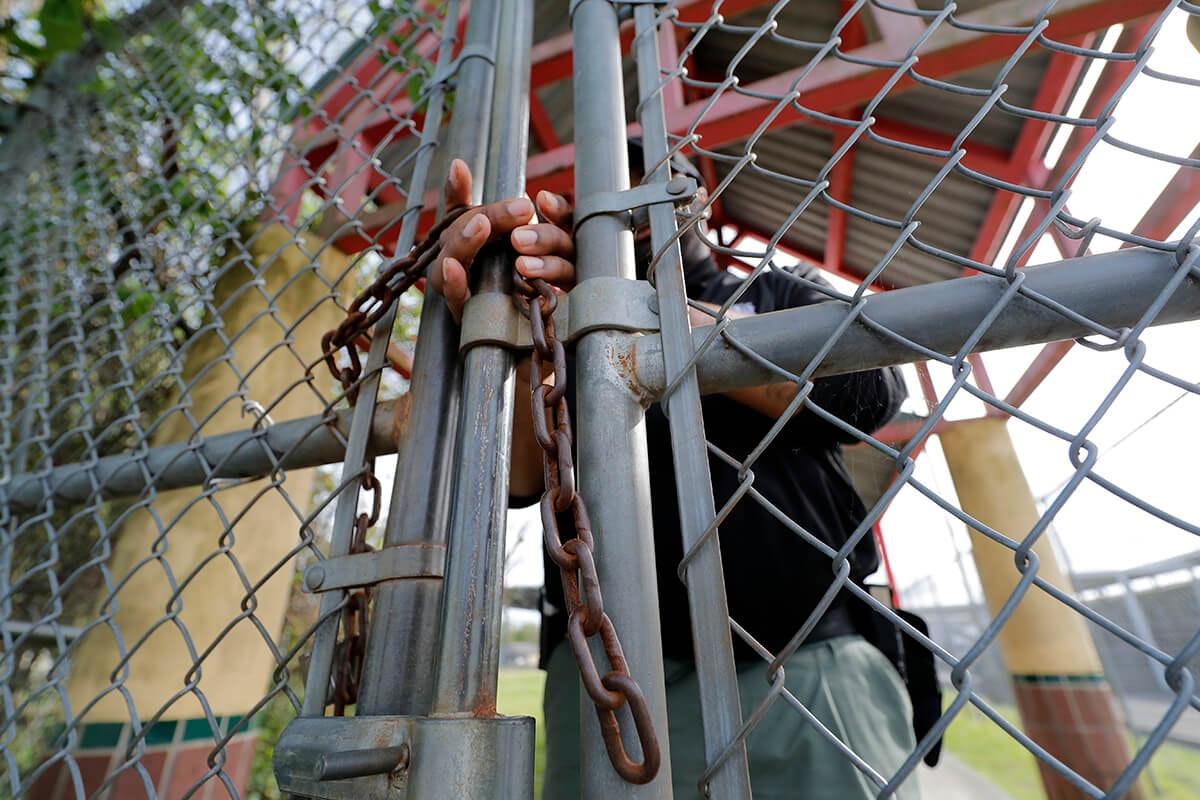 SRO locks school gate