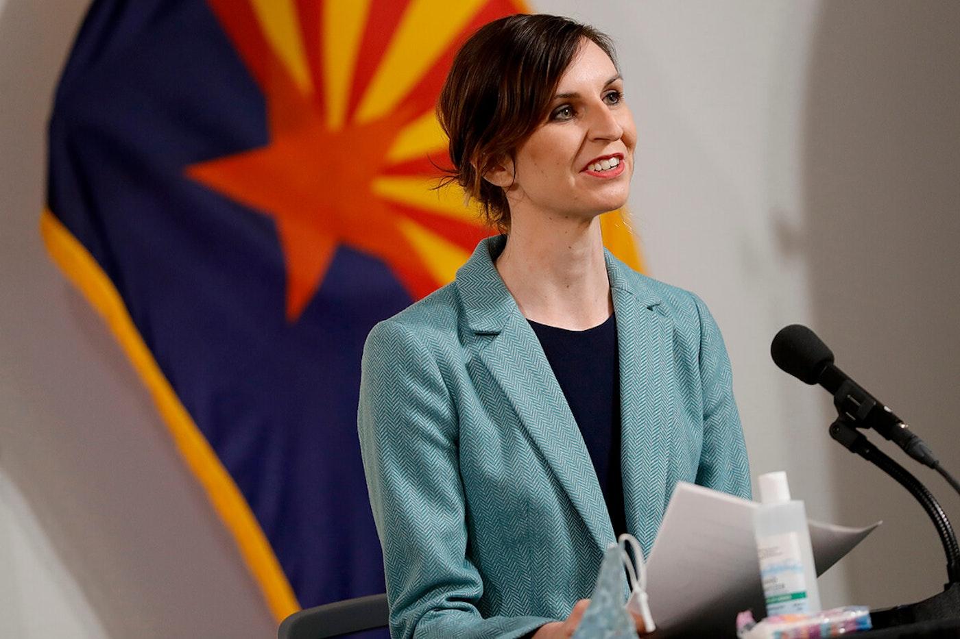 Superintendent Hoffman speaking at press briefing