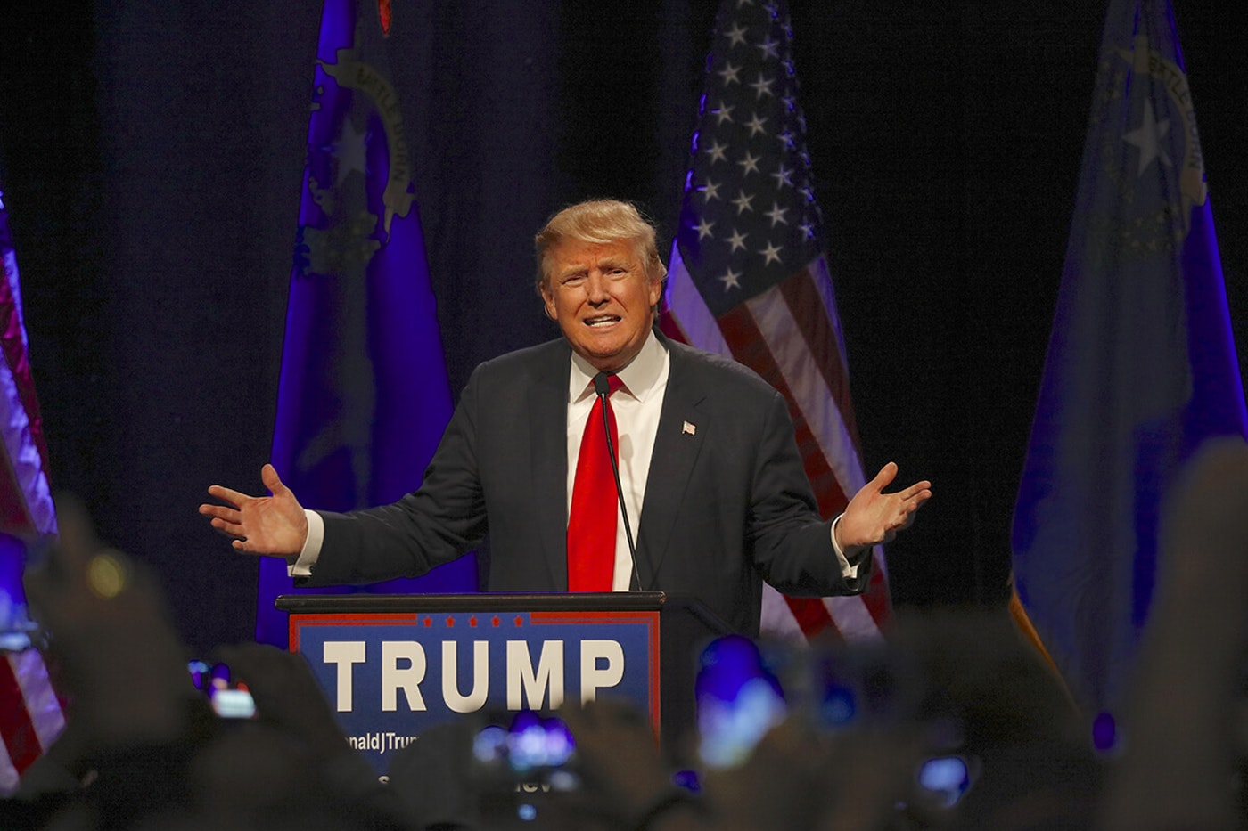 Trump speaking at campaign event