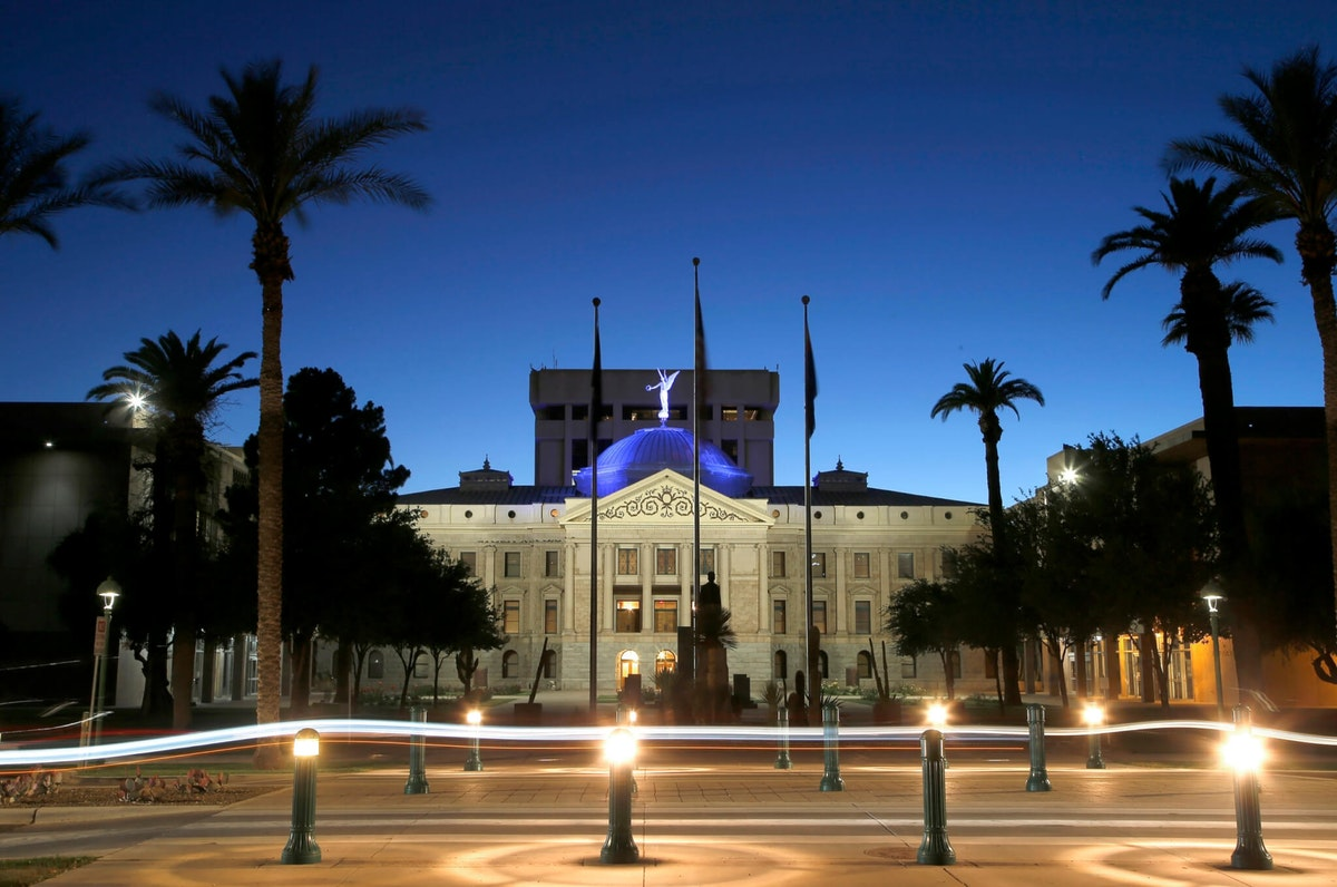 With Democrats eyeing November pickups they hope will give them control of the Arizona Legislature for the first time in decades, business interests are pumping cash into their primaries. But the biggest knock-down, drag-out primary fight pits two sitting lawmakers in a Republican north Phoenix district battling for the soul of the GOP base. (AP Photo/Ross D. Franklin, File)