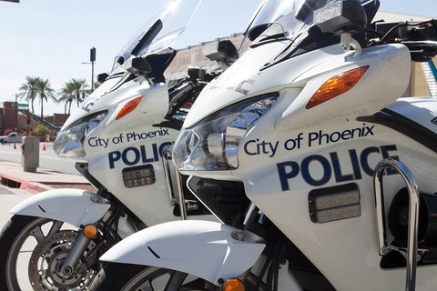 two Phoenix police motorcycles