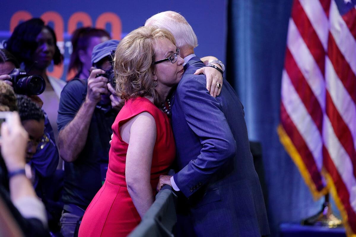 Biden hugging Giffords