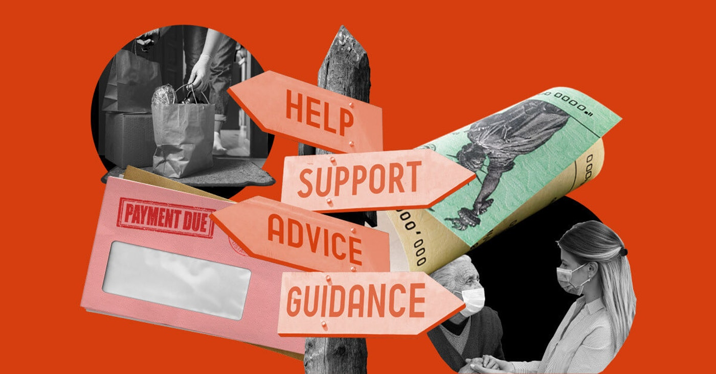 "graphic of signpost with signs saying ""help,"" ""support,"" ""advice,"" and ""guidance"""