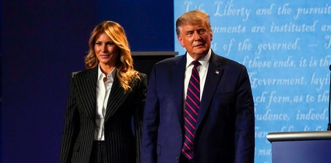 President Trump and first lady Melania Trump have tested positive for the coronavirus, the president tweeted early Friday (AP Photo/Julio Cortez).