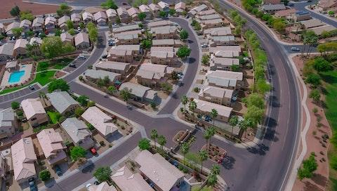 overhead shot of a Phoenix neighborhood
