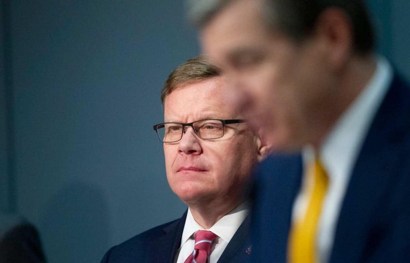 House Speaker Tim Moore in a May 4 press conference with Gov. Roy Cooper. Despite scant evidence of voter fraud, Moore has spearheaded the push for voter ID in North Carolina.