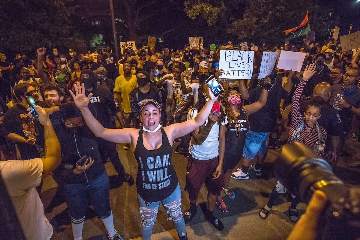 Widespread protests after George Floyd's death did not contribute to any noticeable increase in coronavirus infections, officials say. (Photo for Cardinal & Pine by Grant Baldwin)