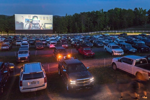 A coronavirus-proof business, the drive-in theater, in Kings Mountain, NC.