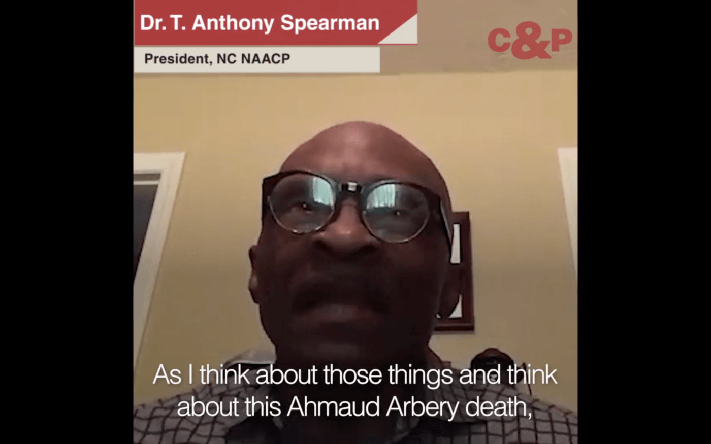 NC NAACP President T. Anthony Spearman on the Ahmaud Arbery killing.