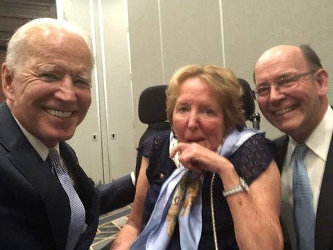 Democratic presidential candidate Joe Biden with the late former Sen. Kay Hagan (middle) and her husband Chip Hagan, shortly before Kay Hagan's death in 2019. Chip Hagan is a NC delegate to this year's Democratic National Convention. (Photo submitted by Chip Hagan)