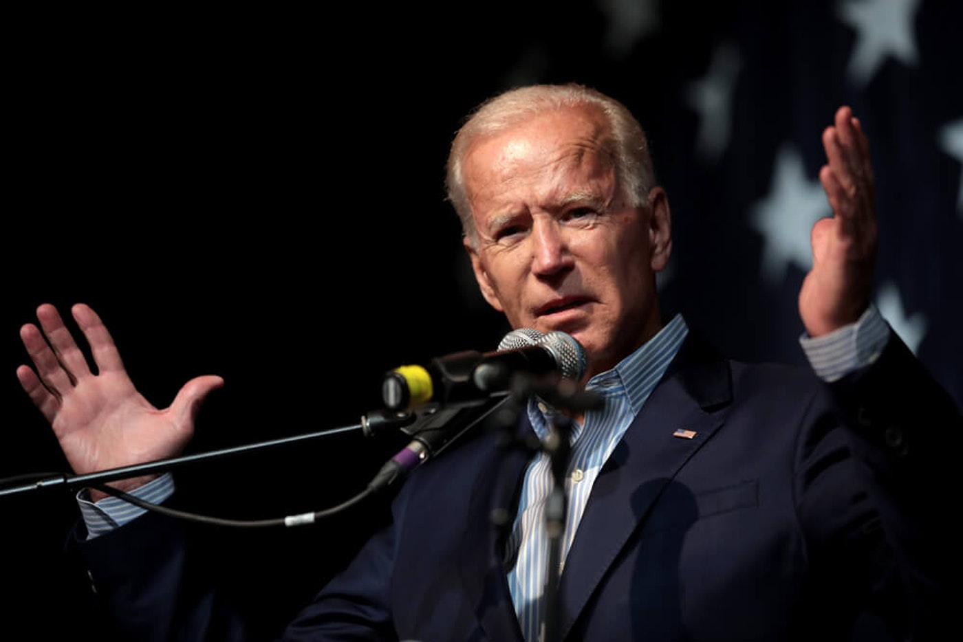 Democratic presidential nominee Joe Biden in 2019 in Iowa. As conventions heat up, attention has turned to Biden and Trump's competing tax plans. (Image via Shutterstock)