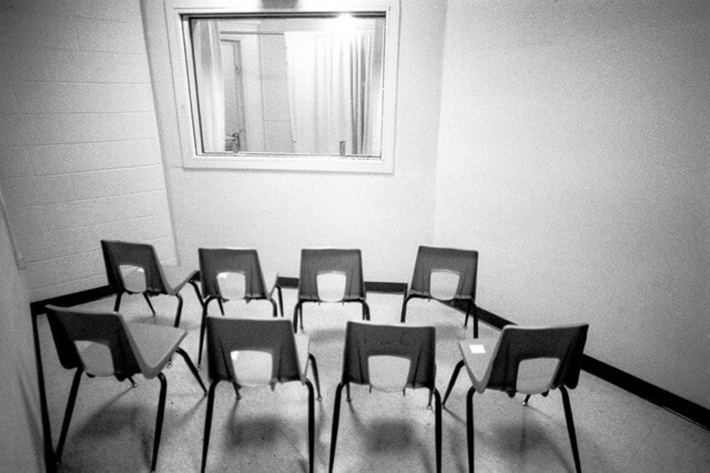 The observation room for Central Prison's execution chamber. (Photo via Scott Langley of deathpenaltyphoto.org)