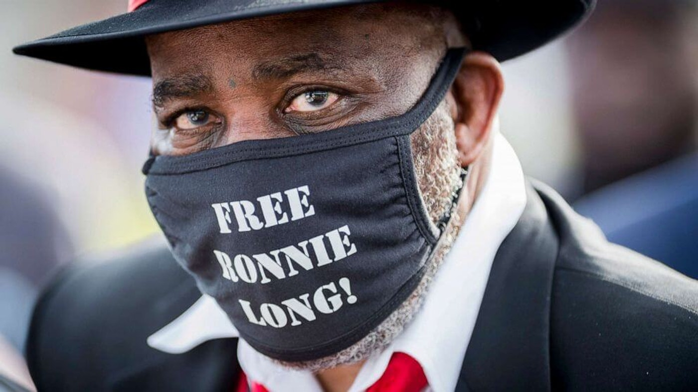 """Held in prison for 44 years for a crime he didn't commit, Ronnie Long meets a new world. (Image via """"Free Ronnie Long"""" on Facebook)"""