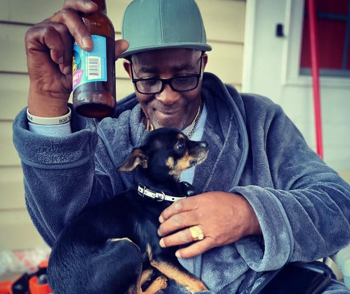 Kicking back at his Durham home after more than 40 years of wrongful imprisonment, Ronnie Long is still waiting on an official pardon from NC Gov. Roy Cooper. (Image via Ashleigh Long)