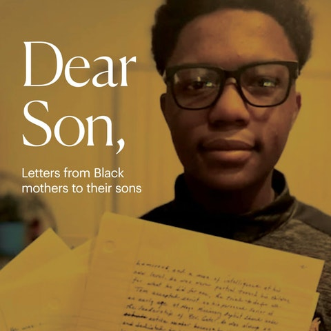 George Floyd's killing in Minneapolis inspired 15-year-old Ocir Black of Winston-Salem, NC, to collect poignant letters from Black mothers to their sons. (Graphic by Denzel Boyd)