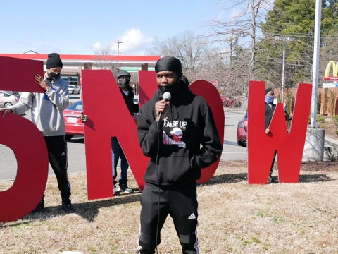 Nahshon Blount, a low-wage worker in North Carolina. Photo courtesy of Fight for $15