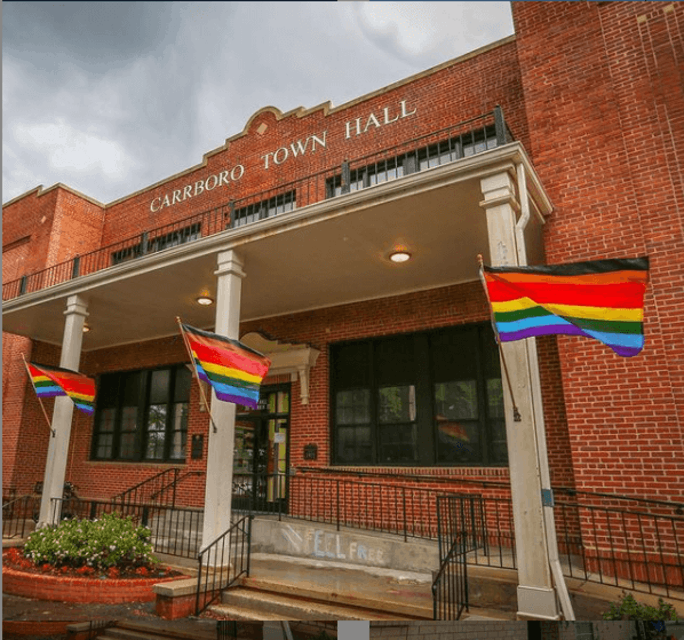 The town of Carrboro passed protections for those who identify as LGBTQ because federal action has stalled. (Image via Town of Carrboro/Instagram)