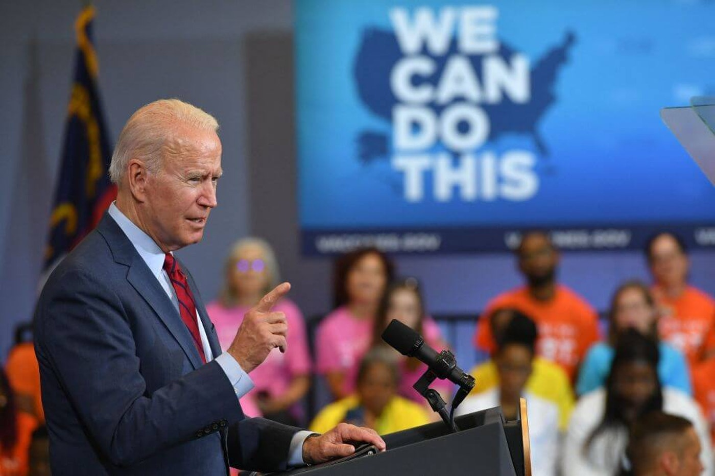 US President Joe Biden speaks after visiting a mobile vaccination unit at the Green Road Community Center in  Raleigh, North Carolina on June 24, 2021. (Photo by MANDEL NGAN / AFP) (Photo by MANDEL NGAN/AFP via Getty Images)