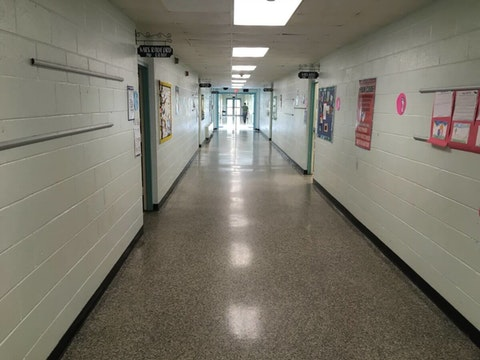 The empty halls at West Greene Elementary in Snow Hill, NC, in April. Many students returned to in-person learning in the Greene County school in April. They've been trying to make up for lost time since. (Photo by Billy Ball)
