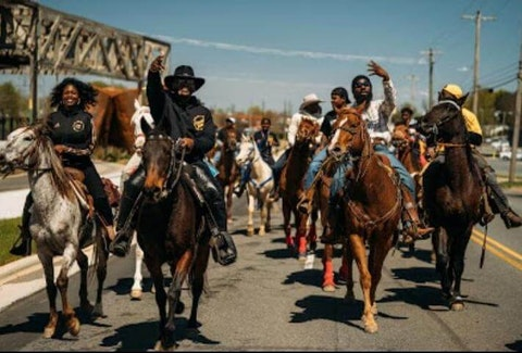 The Trailbred Riderz, one of North Carolina's Black saddle clubs, are continuing the traditions of oft-overlooked Black cowboys and cowgirls. (Photo by Amber Thompson)