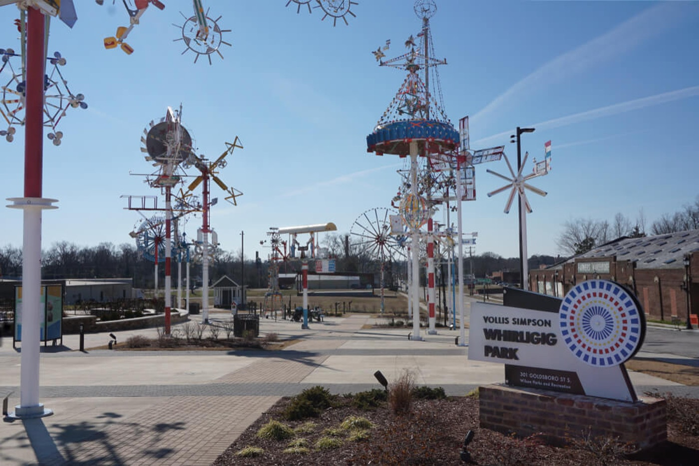 The Vollis Simpson Whirligig Park & Museum in Wilson, NC, one of our five most bizarre, and fascinating, places to visit in North Carolina. (Image via Shutterstock)