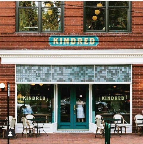 Kindred in Davidson is helmed by a James Beard finalist who specializes in contemporary Southern cuisine.