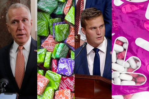 Read to find out what beloved (and hated) Halloween candies match our elected officials in North Carolina. Photos via Shutterstock, AP and Getty Images.