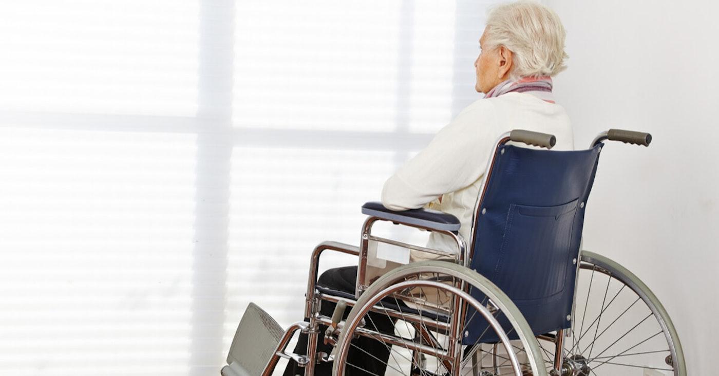 Elderly on wheelchair