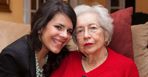 Young latina with grandmother
