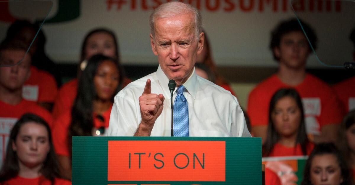 Joe Biden campaigns