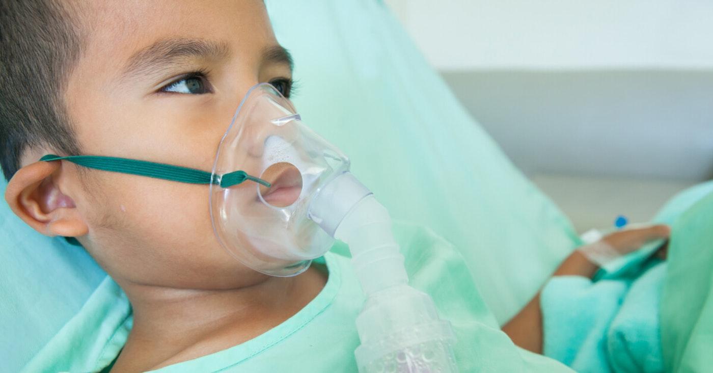 Child with ventilator