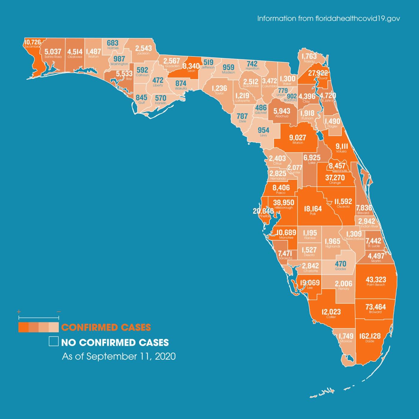 Florida coronavirus map