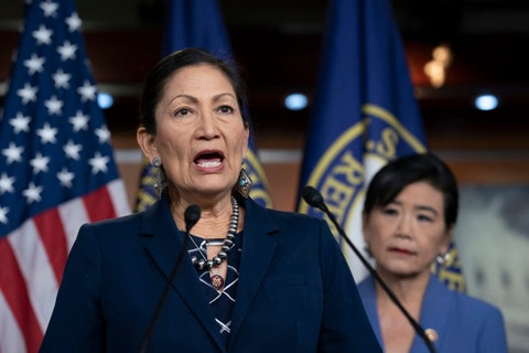 Haaland could become the first Native American secretary of Interior if confirmed.  (AP Photo/J. Scott Applewhite, File)