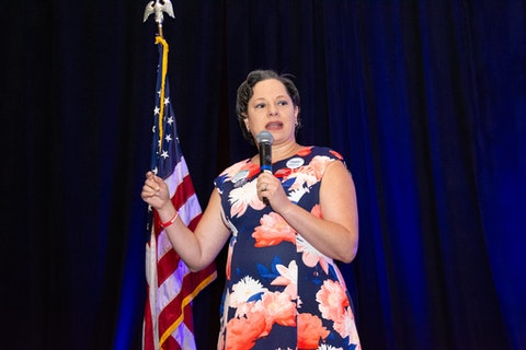 Virginia State Sen. Jennifer McClellan at the 2019 Virginia Women's Summit