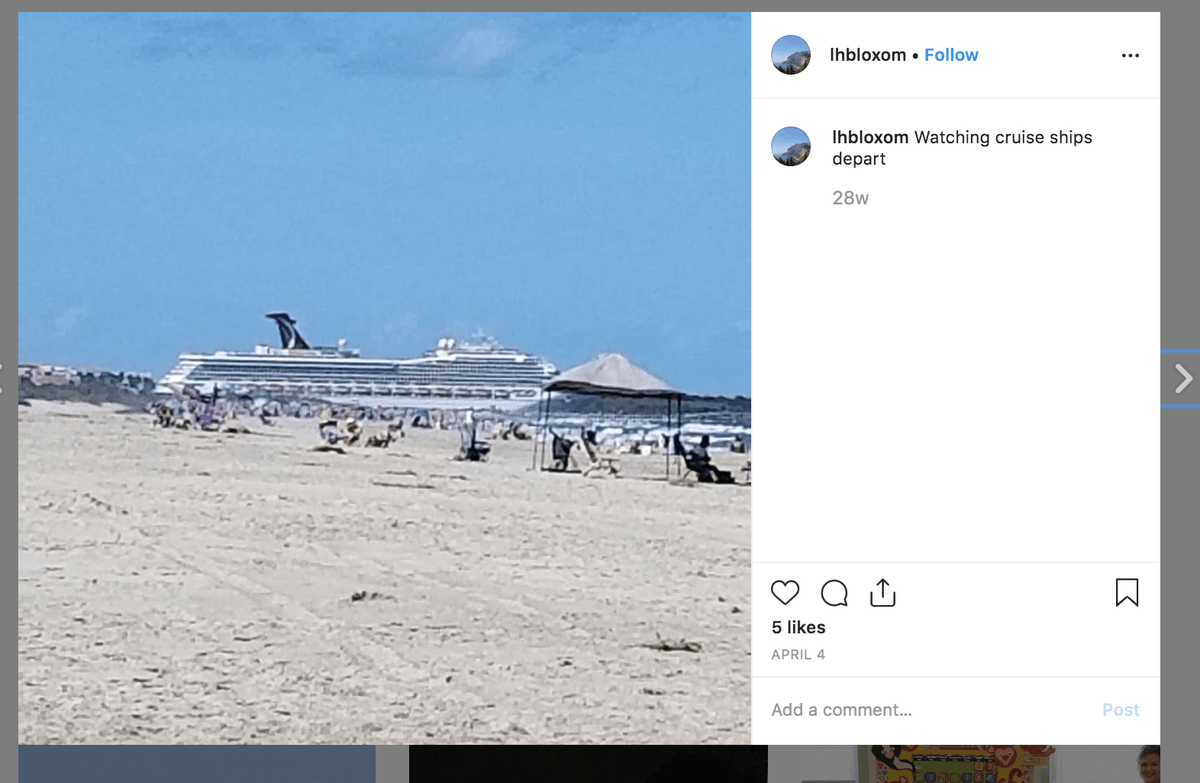 Del. Rob Bloxom posts a photo from Cocoa Beach, Fl. where he vacationed during the reconvened session of the General Assembly.