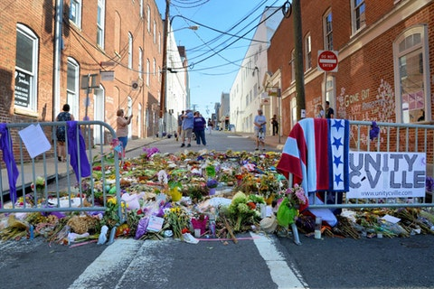 Charlottesville in the aftermath of the Unite the Right Rally in 2017. In the years since the city has worked to establish a civilian review board for the Charlottesville police, but it has taken years to get off the ground.