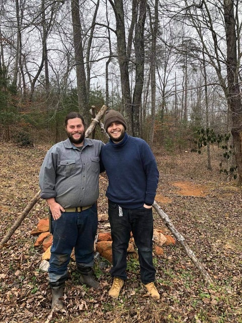 Scott Vernon (left) weighed 240 lbs three and a half years ago. A walk through the woods sparked a healthy change. Contributed photo.