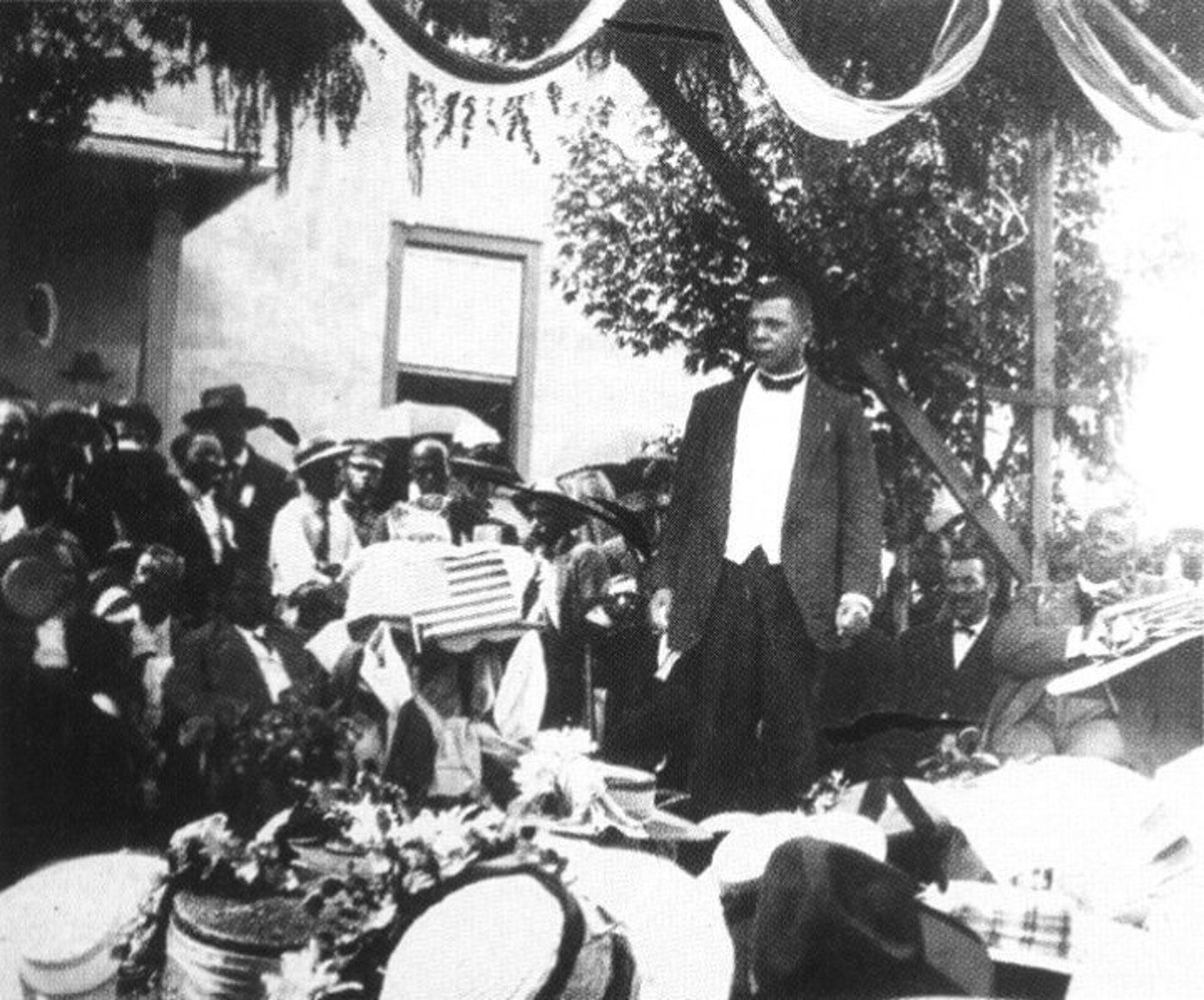 Booker T. Washington spoke in Christiansburg to a gathering of almost 5,000 locals in 1909. Photo courtesy of Christiansburg Institute Inc.