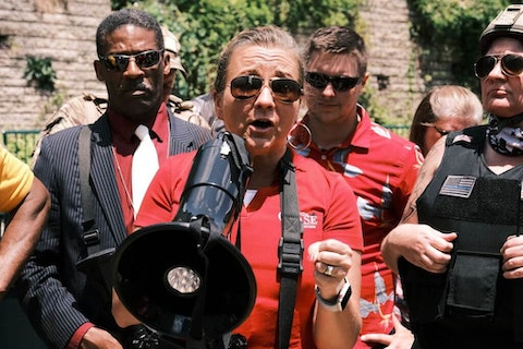 RICHMOND - State senator Amanda Chase addresses protesters in Richmond, Virginia. Chase is currently running for the Governors office of Virginia. People attended an event in Virginia tagged Stand with Virginia, Support the 2nd amendment. (Photo by Eze Amos/Getty Images)