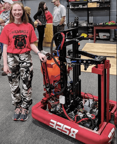 Kellene Wotring recently won a FIRST Robotics scholarship. Contributed photo.
