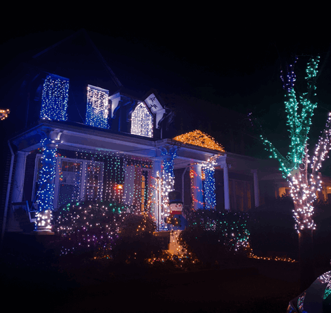 A home in the Capitol is decked out for Christmas.